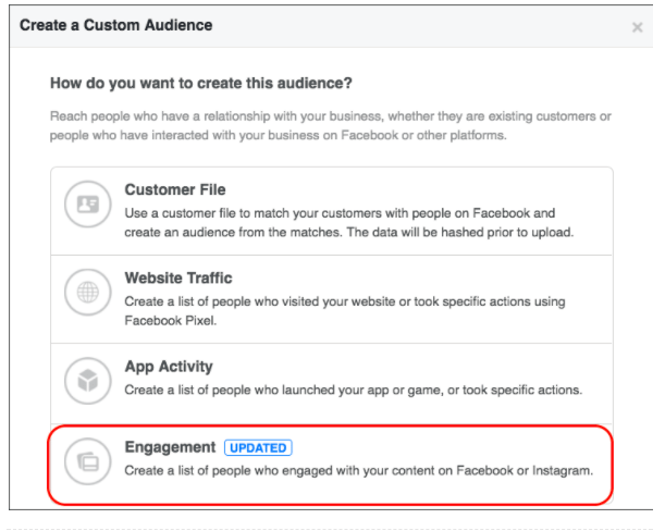 engagement-custom-audience-on-facebook ホリデーシーズンのための10のFacebookマーケティングのヒント
