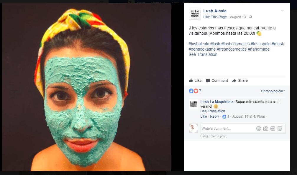lushmask Facebook上であなたの製品を宣伝する5つの方法